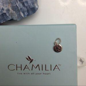"NEW ""K"" CHARM CHAMILIA CHARM BRACELET LETTER CHARM"